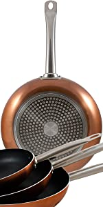 San Ignacio Professional Chef Copper Set 3 sartenes + 4 Cuchillos + ...