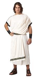 Toga Party, Toga Cosplay, Toga, Halloween, Egypt, Greek, Roman, Toga Costume, Toga Wig, Men's