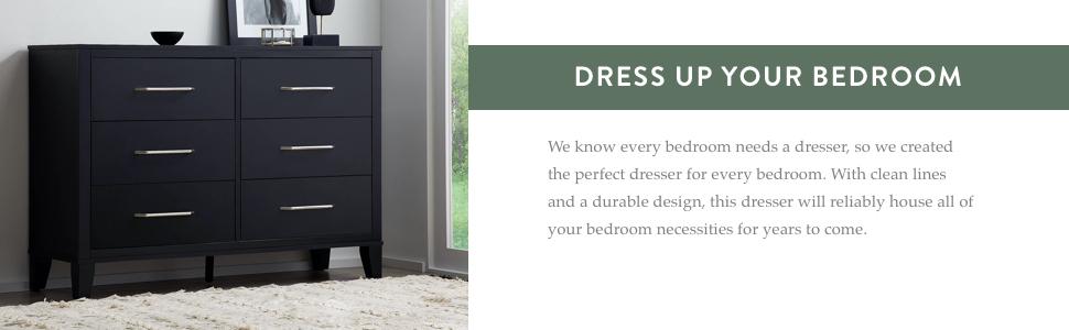 grey 6 drawer dresser modern design double dresser clean lines sleek design dressers for bedroom