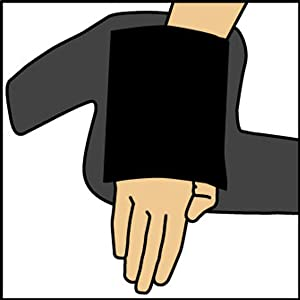 Put hand through comfort fit sleeve.