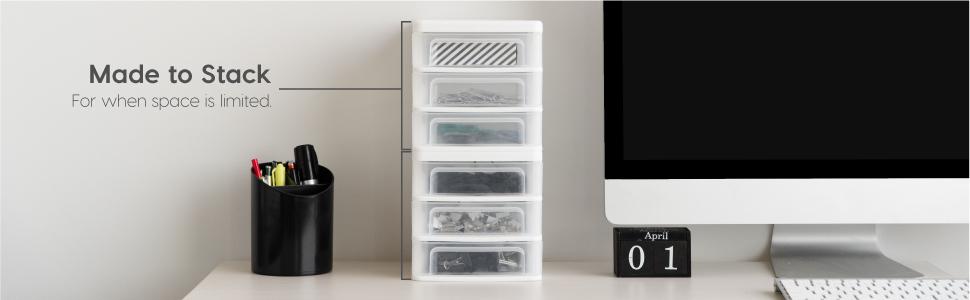 stacking drawer, stacking drawers, desk organizer, desktop organizer, desktop storage, small drawer