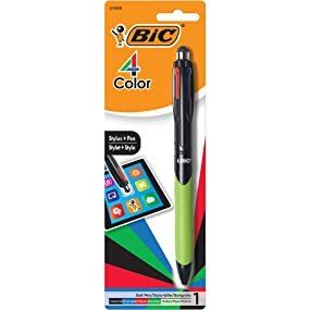 bic 4 color ballpoint pen and stylus