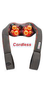 cordless shiatsu deep tissue neck back shoulder massager with heat vibration