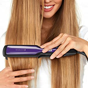 wide long ceramic plate surface hair straightener flat iron