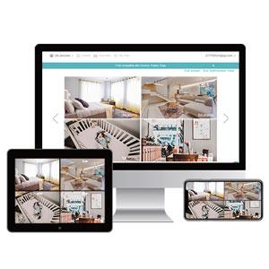 Blurams Home Pro 1080p FHD Cámara de Vigilancia en Domo para el Hogar-WiFi Micrófono-Altavoz Detección Inteligente Personas/Animales/Sonidos Alertas ...