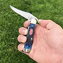 one hand opening knife, navy blue russlock, utility knife, russlcok, wr case knife, pocket knife