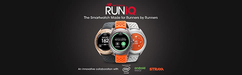 smartwatch, running watch, gps watch, runiq, new balance, intel, android wear, androidwear, AW