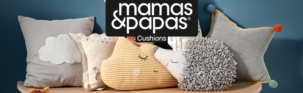 Stripes /& Stars Design Mamas /& Papas Luxury Blue and White Changing Mattress with Detachable Pillow /& Removable Insert Liner