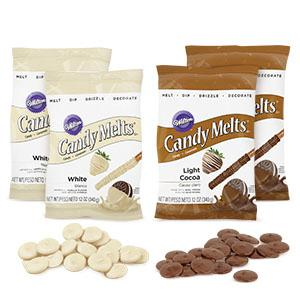 candy melts  : Wilton Light Cocoa and White Candy Melts Candy Set, 4 ...