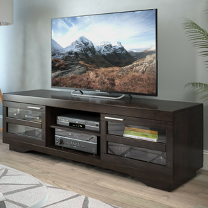 Amazoncom Sonax B007RGT Granville 66Inch Wood Veneer TV Bench