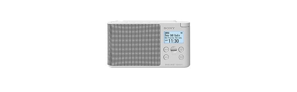 Sony XDRS41DW.EU8 - Radio portátil Digital (Dab/Dab+/FM, Altavoz, 5 presintonías Digitales y 5 analógicas, Pantalla LCD, Temporizador, Adaptador CA) ...