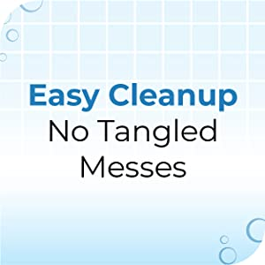 easy cleanup no tangled messes