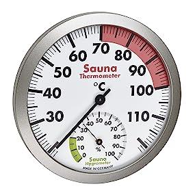 Thermomètre et hygromètre analogique pour sauna 40.1055.50