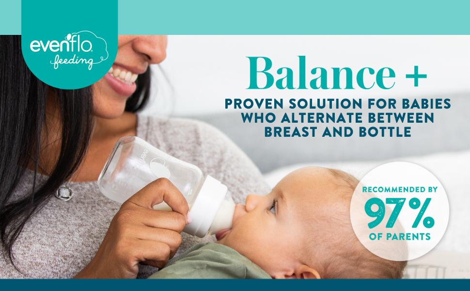 Evenflo Balance Wide Neck Baby Bottles