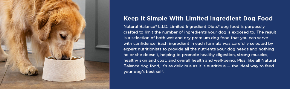 Natural Balance LID Premium Dog Food 2A