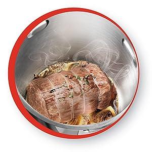 Moulinex Cuisine Companion XL HF80CB - Robot de cocina Bluetooth 12 programas y 6 accesorios capacidad 6 personas, incluye cuchilla picadora, batidor, mezclador, amasador, triturador y cesta de vapor: Amazon.es: Hogar