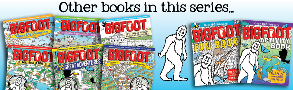 activity, activity book, stickers, bigfoot, childrens book, coloring, draw, educational, fun facts