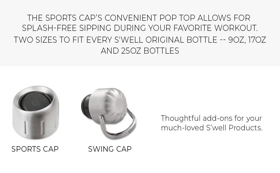 17 oz//9 oz Swell 10100-B18-17096 Sport Cap