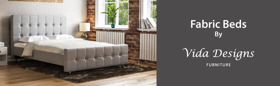 Lit double Victoria par Vida Designs Furniture
