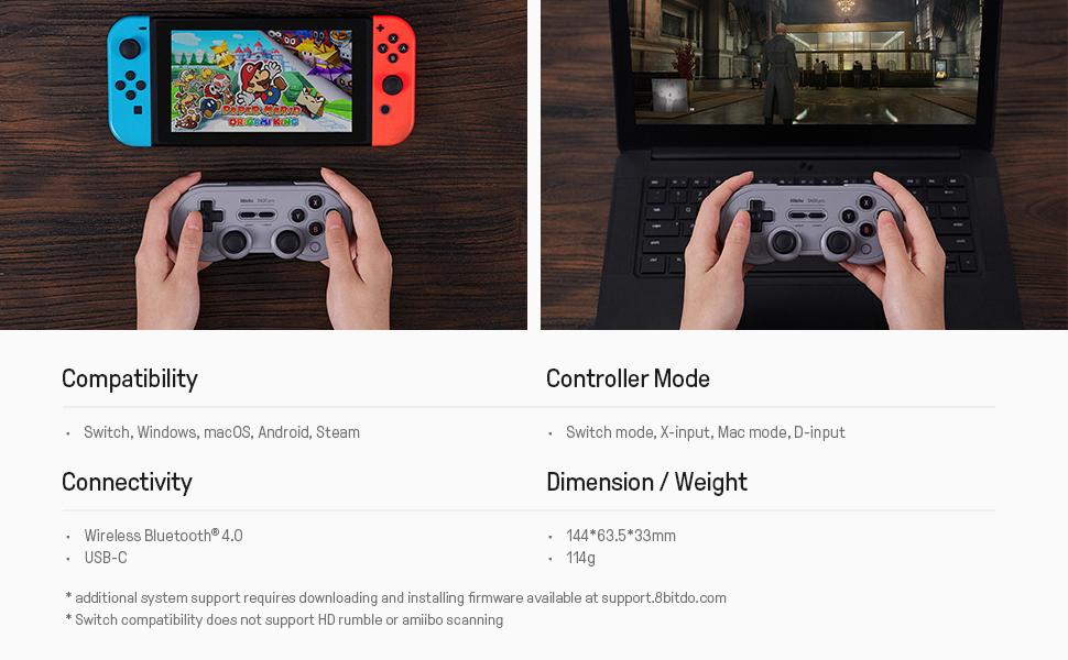 nintendo switch controller pc controller windows controller MacOS controller Android controller