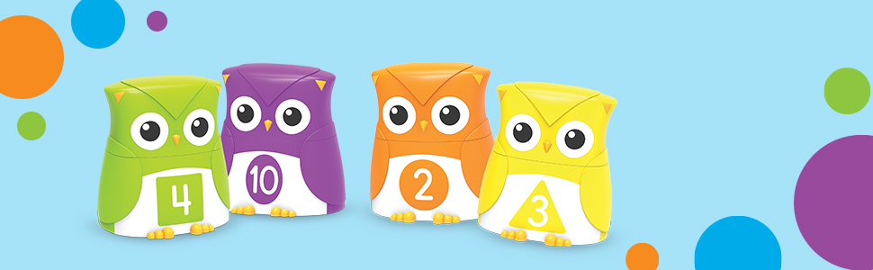 Letter Owls LER6711 Learning Resources Snap-n-Learn Rainbow Color Shape