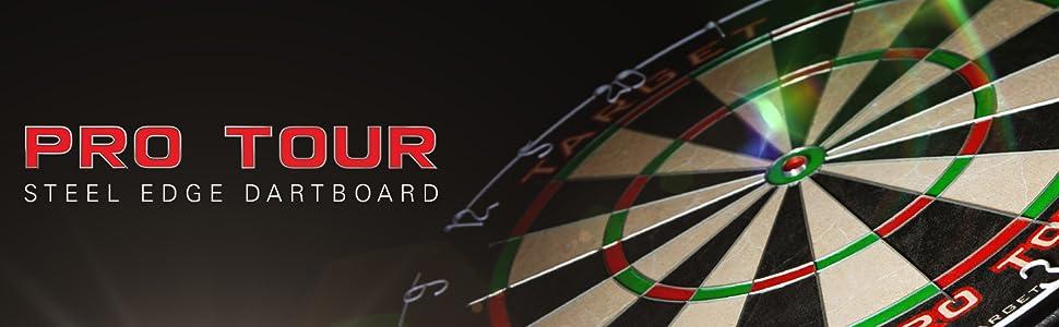 Schwarz Klassische Dartboards Nicht zutreffend Target Darts Pro Tour bedruckter Wandschutz