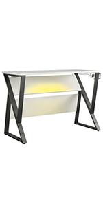 gaming;gaming desk;gaming chair;desk;computer desk;white desk;white gaming desk;xbox desk;white desk