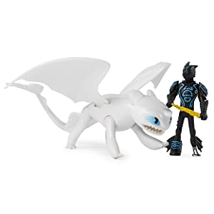 Dragon Armored Viking Kids Toy Figure Dreamworks Dragons Lightfury and Hiccup