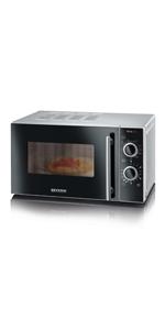 Severin MW 7750 Microondas con Grill 2 en 1, 800 W, Negro ...