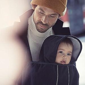 BABYBJÖRN Cape pour Porte-bébé en laine polaire