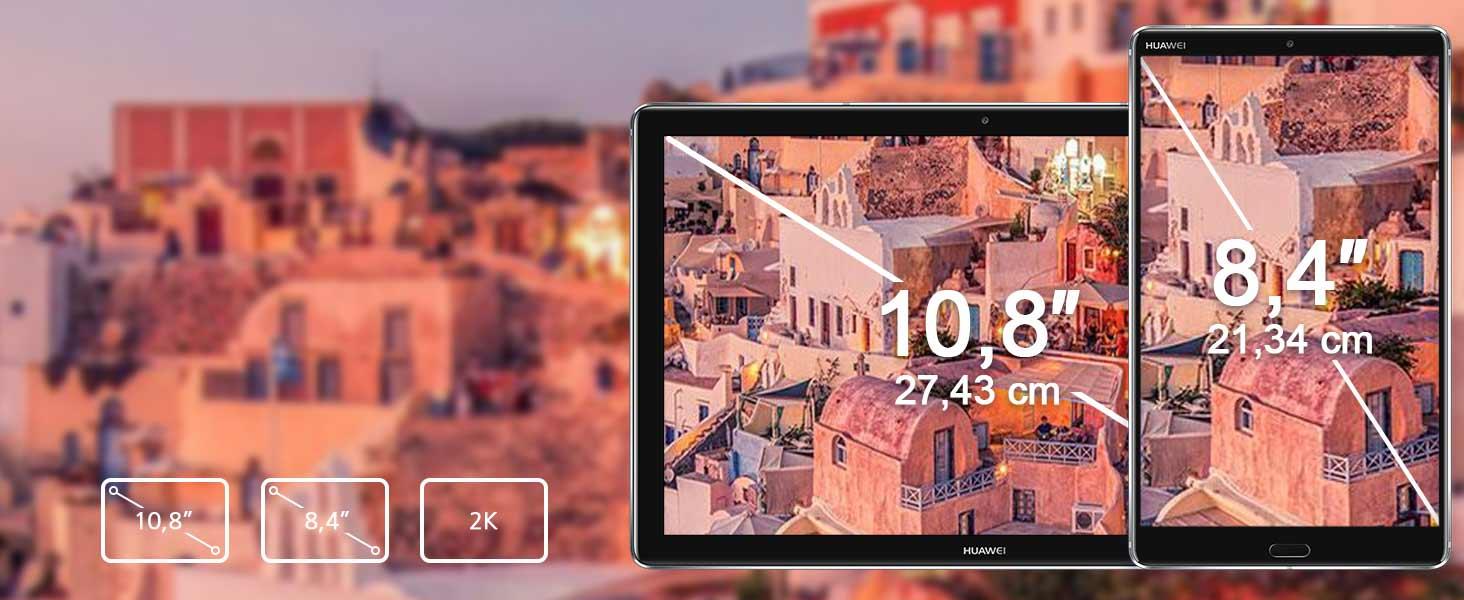 Bildschirmauflösung mit IPS Anzeige: 2560 x 1600 Pixel, 10,8 Zoll: 280 PPI / 8,4 Zoll: 359 PPI