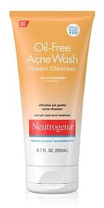 Neutrogena Oil-Free Acne Wash Cream Cleanser, 6.7 Fl. Oz