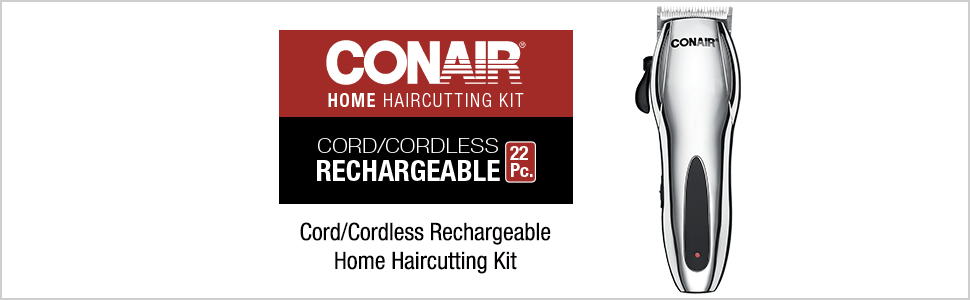Conair Hair cutter; hair cutting kit; hair cut kit; cordless hair cutter; cordless hair cutting kit