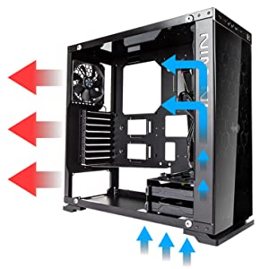 InWin 805 Black Tempered Glass Compact ATX Mid-Tower Computer Case (CF05)