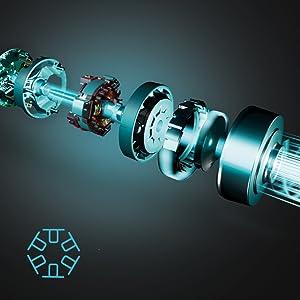 aspirador vertical con motor digital