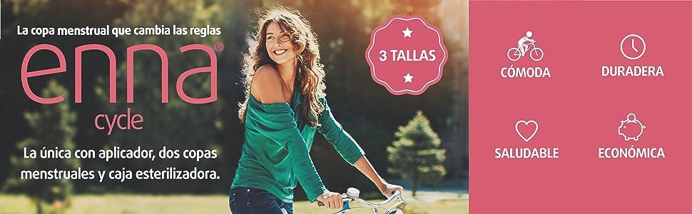 Enna Cycle - 2 Copas menstruales y Caja esterilizadora