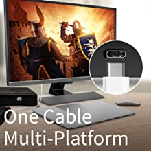 One Cable for Multi-Platform Connectivity (BenQ EW3270U)