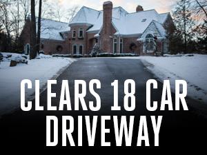 EGO, snow blower, clear 18 car driveways