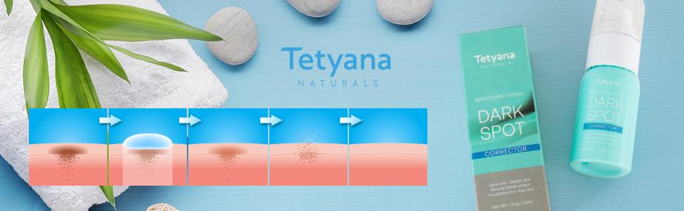 Amazon.com: Tetyana Dark Spot Corrector Brightening Serum For Face ...