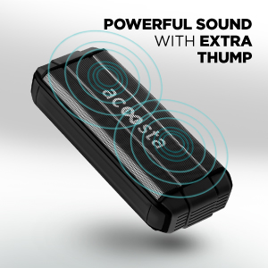 Powerful 3W x 2 stereo speakers