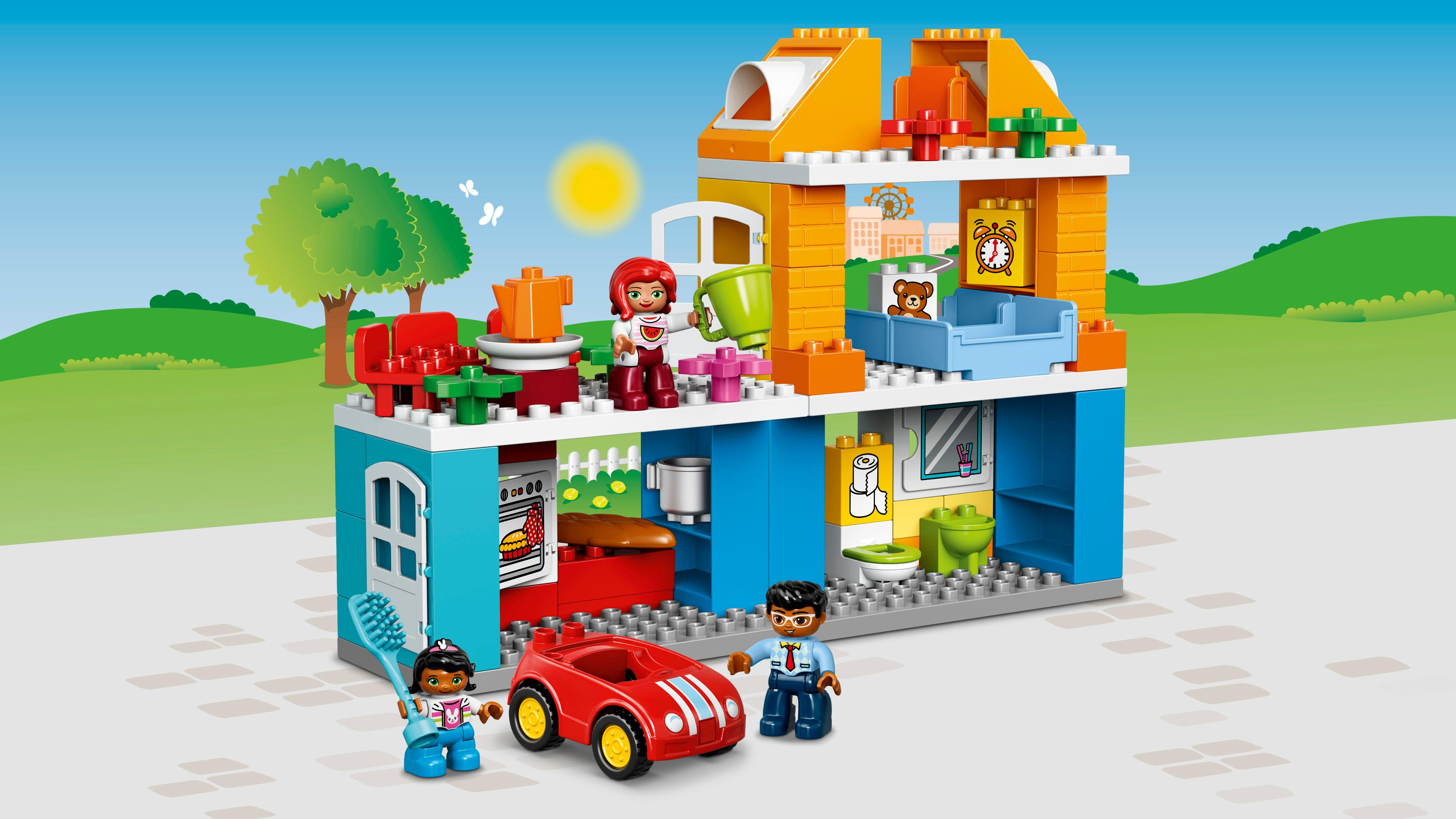 lego duplo 10835 familienhaus spielzeug f r drei j hrige spielzeug. Black Bedroom Furniture Sets. Home Design Ideas