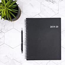 Blue Sky 2019-2020 Academic Year Weekly & Monthly Planner, Flexible Cover, Twin-Wire Binding, 7