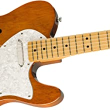 Amazon.com: Squier by Fender Classic Vibe 60's Telecaster Thinline ...