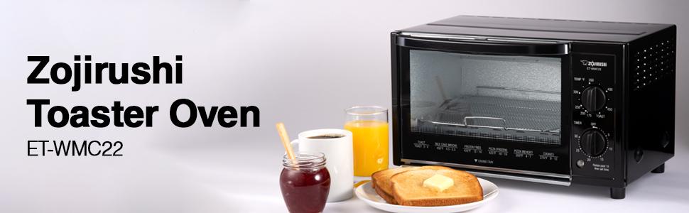 zojirushi, toaster oven, toast, bagel, et-wmc, et-wmc22