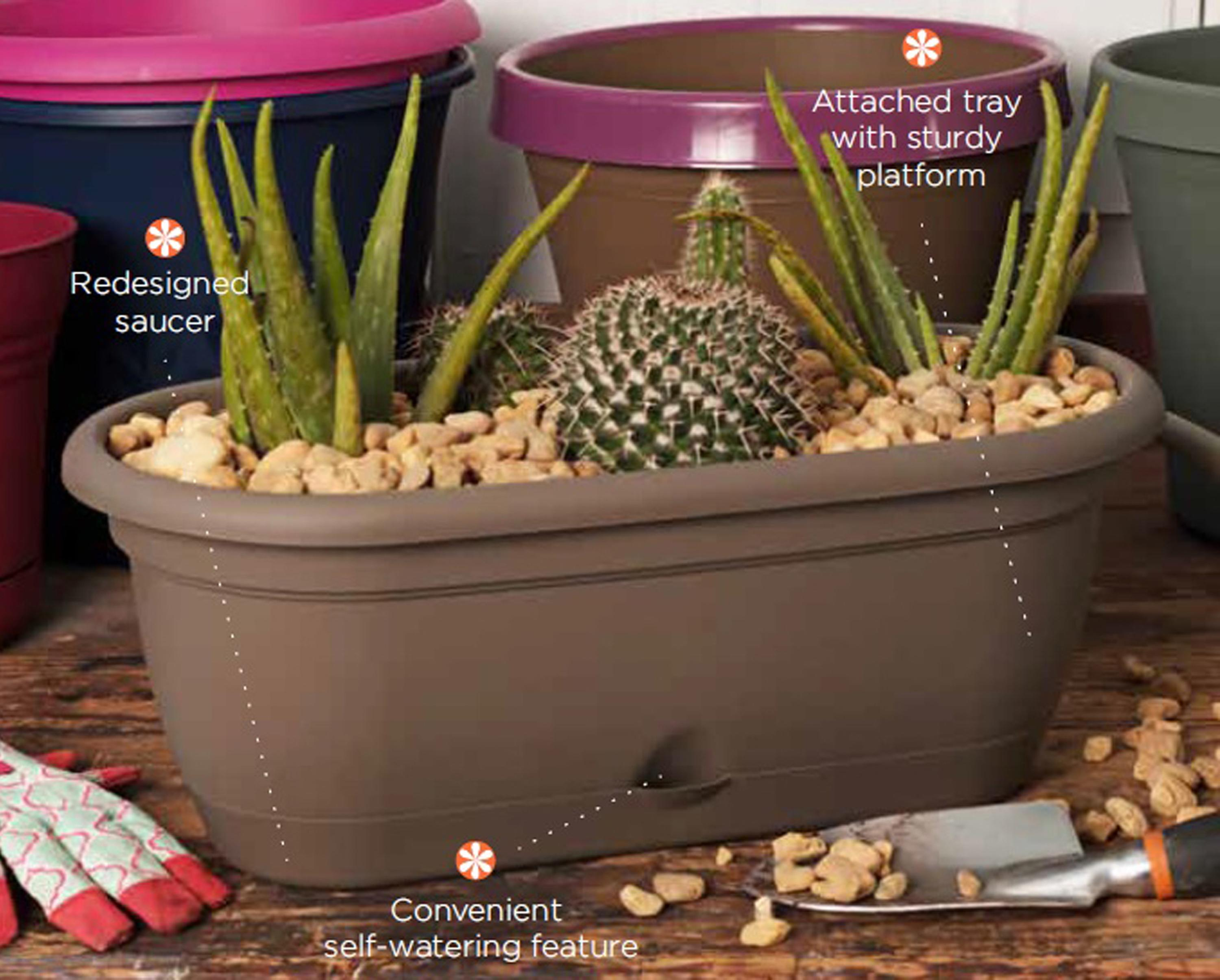 gardeners herb self watering planters home pin planter large stackable cascada com
