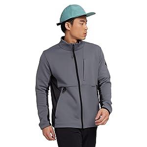 burton mens fleece zip up versatile hood move active sweat wicking dryride comfort to and from