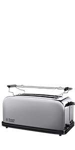 toaster,grille pain,pain grillé,petit dejeuner,russell hobbs,toaster compact,compact home
