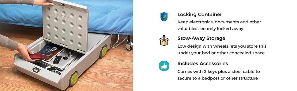 dorm,room,lock,safe,for,teens,college.laptop,under,bed,university,rolling,secure,master,locking,keys