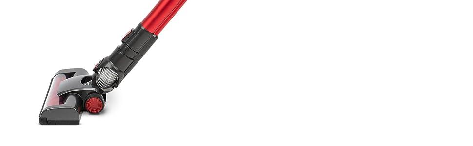 H.Koenig UP810 Aspiradora Escoba Sin Cable 2 en 1, Aspiradora de Mano, 160 W, 22.2 V, Filtro HEPA, Sin Bolsa, 2 Velocidades, Silenciosa, 35 Mins de Autonomía, Limpieza profesional, Ligera, Roja: Amazon.es: Hogar