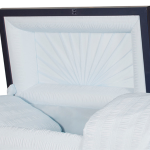 funeral casket with crepe interior